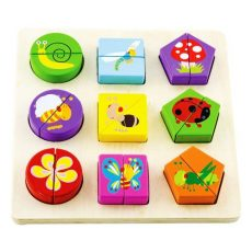 Fa felezős puzzle - Formalap rovaros