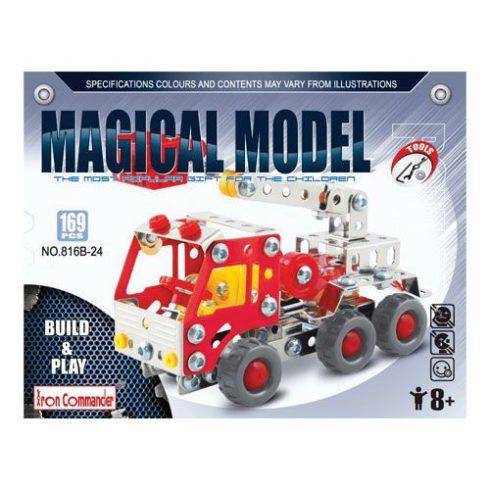 Fém építőjátékok - Kosaras tűzoltóautó