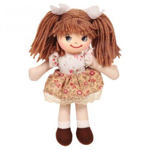 Rongybaba - Lány - Krém, Virágmintás, 20 cm