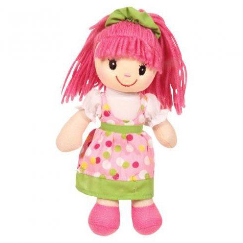 Rongybaba - Lány - Rózsaszín-Zöld, 20 cm