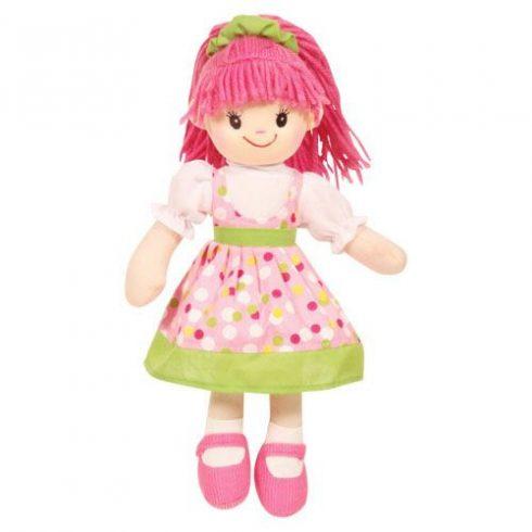 Rongybaba - Lány - Rózsaszín-Zöld, 30 cm