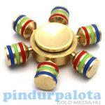 Ügyességi játékok - Ujj pörgettyű Fidget Spinner tokban változtatható súlyozással fémből (nehéz)
