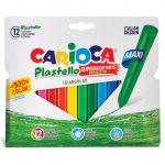 Íróeszközök - Kréták - Háromszög Jumbo színes rajzkréta szett 12db - Carioca