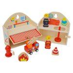 Nyitható tűzoltóállomás - Fajátékok