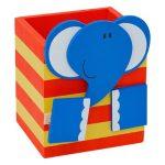 Írószerek-iskolaszerek - Csipeszes ceruzatartó, elefántos