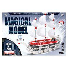 Építőjátékok - Összecsavararozható fém vitorláshajó