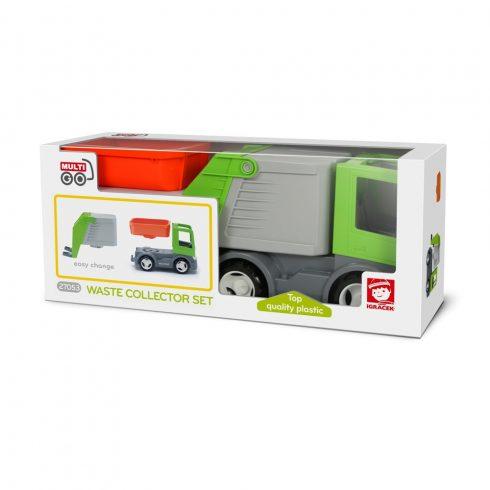 Műanyag járművek - Multigo kukás autó+plató ECO