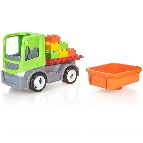 Műanyag járművek - Multigo autó kockákkal és platóval ECO