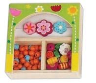 Készségfejlesztő - Fűzős játékok - Gyöngy kicsi zöld