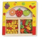 Készségfejlesztő - Fűzős játékok - Gyöngy sárga kicsi