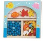 Készségfejlesztő - Fűzős játékok - Gyöngy kék kicsi