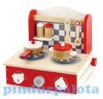 Játék konyhák - Edények - Rezsó piros