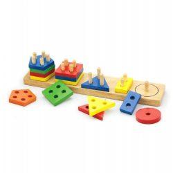 Építőjátékok gyerekeknek - Fából, Fémből, Műanyagból - Mértani formalap (V)