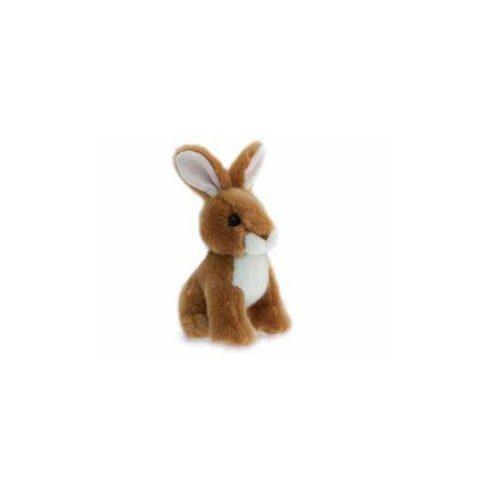 Plüss állatok - Plüss figurák - Plüss nyuszi ülő barna