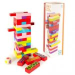 3 játék 1-ben (jenga,dominó,memória)