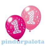 Lufik - Luftballonok - Léggömb 3db 1.szülinap Girl
