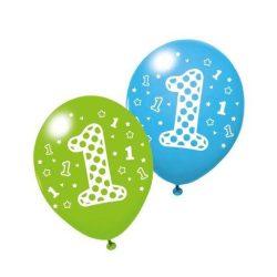 Lufik - Luftballonok - Léggömb 3db 1.szülinap Boy