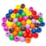 Készségfejlesztő - Fűzős játékok - Fagolyó, színes, 16 mm, 50 db