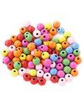 Készségfejlesztő - Fűzős játékok - Fagolyó, színes, 20 mm, 50 db