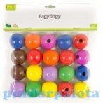 Fűzős játékok gyerekeknek - Gyöngyök - Fa golyók - Fagolyó színes (30 mm, 20 db-os)