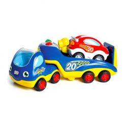 Játék autók gyerekeknek - Wow Toys - Autószállító trailer