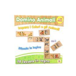 Logikus gondolkodás fejlesztő játékok - Fa dominó állatos