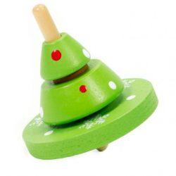 Fajátékok gyerekeknek - Pörgettyű karácsonyfa mintával