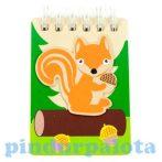 Írószerek-iskolaszerek - Kicsi fa notesz mókusmintával