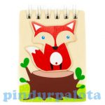 Írószerek - Iskolaszerek - Füzetek - Fa notesz kicsi róka