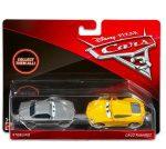 Játék autók - Verdák 3, Sterling és Cruz Ramirez karakter kisautó szett, 1/55, Mattel