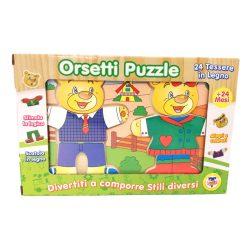 Puzzle kirakók - Fa macis kirakó