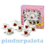 Szerepjátékok - Porcelán teáskészlet katicás
