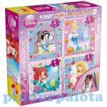 Kifestők - Színezők - Hercegnők Puzzle Color 4x4 kép 4 filctollal