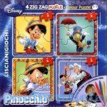 Gyerek Puzzle - Walt Disney Zig Zag Pinocchio Puzzle Color 2in1