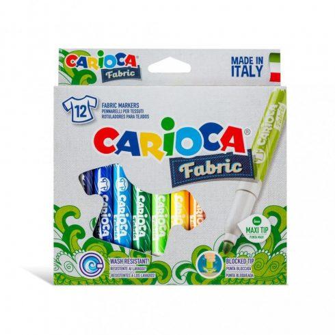 Kreatív hobby - Fabric Textilfilc szett 12db - Carioca