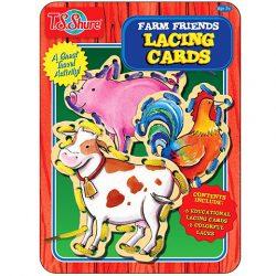Fűzős játékok gyerekeknek - Fémdobozos farm állatai játék