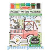 Kifestők - Színezők - Kreatív kifestő festékpalettával járműves, Melissa & Doug