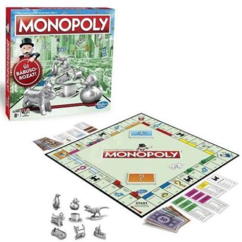 Családi Társasjátékok - Stratégiai - Hasbro Monopoly Classic Társasjáték, Új bábusorozattal