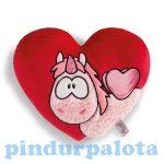 Happy Box Nici Párnák - Plüss párna, Merry Heart, szív alakú