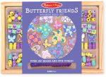 Fűzős játékok gyerekeknek - Gyöngyök - Fa golyók - M&D Kreatív játék fa gyöngy szett, pillangó