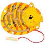 Készségfejlesztő - Ügyességi játék - Mágneses golyóvezető cicás