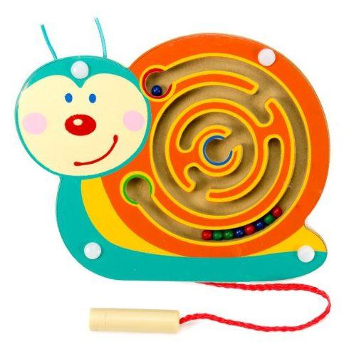 Készségfejlesztő - Golyóvezetők - Mágneses golyóvezető, csiga, kicsi