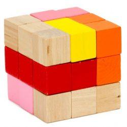 Logikus gondolkodás fejlesztő játékok - Kígyókocka (piros-narancs)