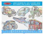 Rajzkészség fejlesztő játékok - Jumbo színező járművek, Melissa & Doug