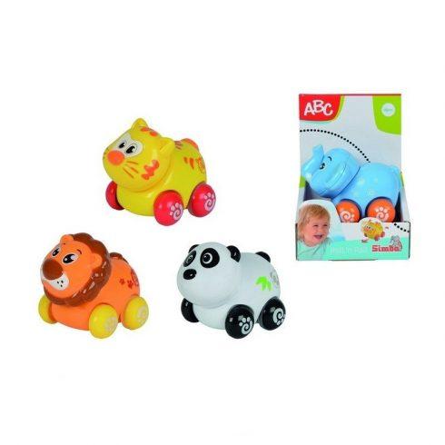 Műanyag járművek - ABC vidám állatok járművek Simba Toys