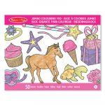 Rajzkészség fejlesztő játékok - Jumbo színező lányos, Melissa & Doug