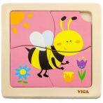 Puzzle kirakók - Méhecskés fa puzzle 4 db-os