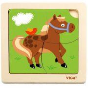 Puzzle - Fa lovacskás, 4 db-os