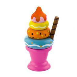 Játék konyhák - Edények - Játék élelmiszerek - Fagyi rózsaszín pohárban - montesszori játék