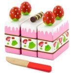 Játék élelmiszerek - Epres kocka - játék sütemény